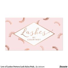 Lash Extensions Salon Pink Rose Gold Business Card Makeup Cards