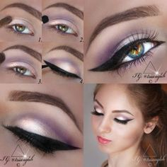 tutorial   1. apply eyeshadow no. 10 by Artdeco on your lid  2. apply mono eyeshadow no. 227 by Beyu on your crease and blend it  3. highlight your brow bone using eyeshadow no. 512 by Artdeco  4. apply eyeliner winged tip like using the liquid eyeliner no. 10 'noir' by Annayake      #makeup