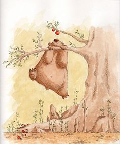 Bear wants apple by Tisseur de Rêves on Deviantart #illustration #bear #tisseur_de_reves #deviantart