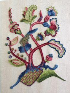 Crewelwork. Jacobean Embroidery Technique.