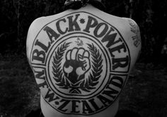 New Zealand Black Power tattoo Biker Gangs, Power Tattoo, Brothers In Arms, All Things New, Motorcycle Clubs, Rocker Style, Gangsters, Black Power, Cut And Color