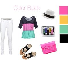 painted skye ring color block outfit , created by azuliskye on Polyvore  http://azuliskye.com/Annahoward