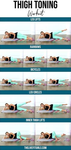 Fitness Workouts, Thigh Workouts At Home, Fitness Tips, Body Workouts, Glute Workouts, Yoga Fitness, Fitness Motivation, Health Fitness, Thinner Thighs Workout