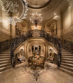 The World of Miss Millionairess.My luxury home.Stunning Staircase/karen cox The World of Miss Millionairess.My luxury home…Stunning Staircase/karen cox Double Staircase, Grand Staircase, Staircase Design, Grand Foyer, Grand Entrance, Luxury Staircase, Foyer Decorating, Decorating Ideas, Decor Ideas