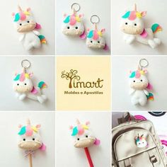 Baby Crafts, Felt Crafts, Diy And Crafts, Felt Patterns, Stuffed Toys Patterns, Felt Keychain, Felt Bookmark, Unicorn Crafts, Felt Diy