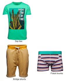 Are you a day or night person?  #date #night #day #tee #tshirt #boxer #shorts #men #boy #outfit #trend #style #look #fashion