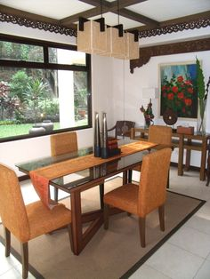 Balinese Inspired Dining Room By RVR Interior Design