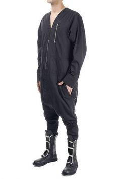 RICK OWENS jumpsuit with zip closure (art. RU14S1501/MU JUMPSUIT SLEEVES 09)