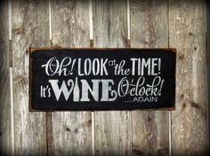 Funny Wine Sign Wine Decor Gift for the Wine lover by Woodticks