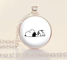 Sleeping Snoopy  Art Pendant  Book Charm by PaperHeartDaily