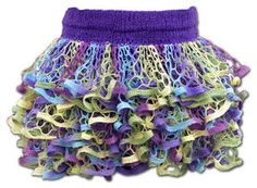 Starbella Ruffle Skirt - ruffle yarns can make more than the twirly scarves! Free pattern!