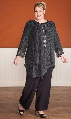 Odessa lace tunic / mib plus size fashion for women / fall fashion / dressy plus size tunic Plus Size Fashion For Women, Plus Size Women, Modest Fashion, Women's Fashion Dresses, Lace Tunic, Mode Hijab, Plus Size Outfits, Autumn Fashion, Clothes For Women