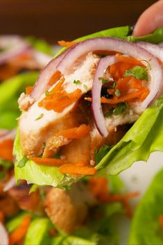 Eating healthy isn't so bad with these very quick and super tasty Thai Lettuce Cups! Healthy Packed Lunches, Healthy Snacks, Healthy Recipes, Healthy Cooking, Healthy Eating, Cooking Recipes, Cooking Tv, Tasty Videos, Food Videos