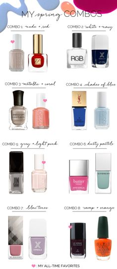 Eight Manicure and Pedicure Color Combinations - Cupcakes & Cashmere