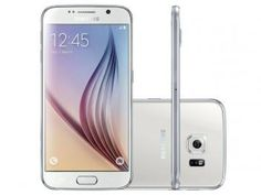 "Smartphone Samsung Galaxy S6 32GB Branco 4G - Câm. 16MP + Selfie 5MP Tela 5.1"" WQHD Octa Core"