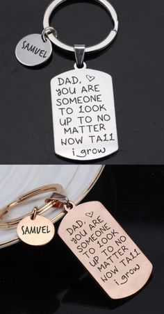 Dad You Are Someone To Look Up To No Matter How Tall I Grow Keyring Fathers Day