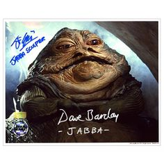 David Barclay and John Coppinger Autographed 8x10 Jabba the Hutt Photo w/ Insc