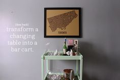 Ikea Hack: Change Table to Bar Cart
