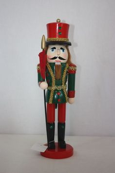 """Wooden Nutcracker Trimsetters By Dillards 15"""" Tall NEW Moveable Lever 4 Mouth  #trimsetters"""
