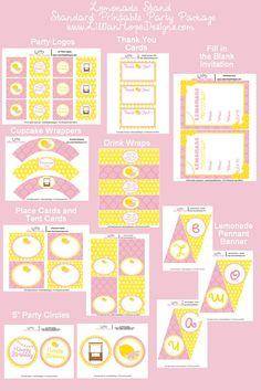 Lemonade Party  Pink Lemonade Birthday  by LillianHopeDesigns, $10.00