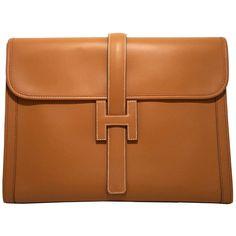 Pre-owned HERMES KELLY Pochette Clutch bag Rose Sakura Swift ...