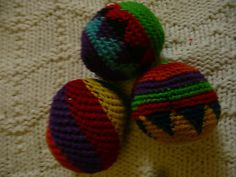Hacky Sack - HARLEQUIN, RASTA AND SWIRL DESIGN 3 TOTAL