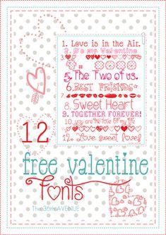 102 Best V Day Fonts Dingbats Images Typography Valentines Font