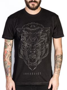 "Men's ""Deception"" Black Collection Tee by InkAddict (Black)"