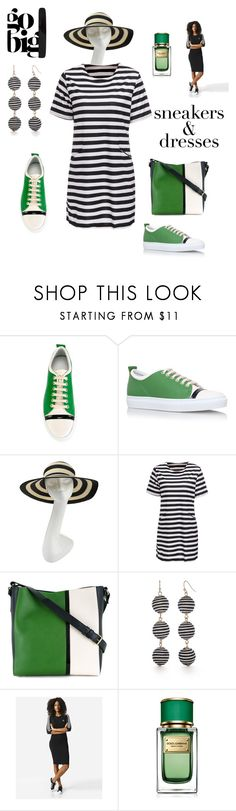Go Big ..Sneakers & Dresses by marlaj-50 on Polyvore featuring adidas Originals, Lanvin, New Directions, Philip Treacy and Dolce&Gabbana
