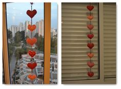 Penduricalho de coração para decoração!!! Arteiras de Coração www.arteirasdecoracao.com.br
