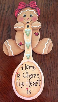 Gingerbread fridge magnet.  My Sister use to do this kind of work she would paint Christmas ornaments and I loved them!!!!