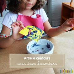 Arte e Ciências juntos no experimento do esmalte Art Therapy, Professor, Cardboard Kitchen, Classroom Ideas, Kids Playing, Creative Activities, Kids Activity Ideas, Easy Science Experiments, Enamels