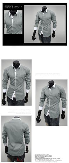 Double Collar Designer Slim Fit Dress Shirt. YES!!!!