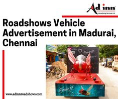 Roadshows Vehicle Advertisement in Madurai, Chennai, Adinn Advertising uses a movable van as a vehicle which features an appropriate installation for placing the ads in a fast and helpful way of attaining mass attention. Advertising Services, Madurai, Chennai, Van, Vehicles, Vans, Cars, Vehicle, Tools