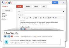 اضافة رائعة لصنع توقيع مميز لبريدك الالكتروني مع امكانية ربط التوقيع بحساباتك علي الشبكات الاجتماعية
