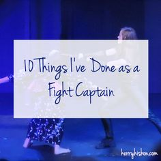 10 Things I've Done as a Fight Captain   kerryhishon.com