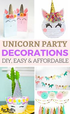 Unicorn Party Decoration Ideas Some DIY Easy And Affordable Throw A Fun Birthday For Your Little Girl Pretty Decor Items In Pink