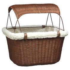 This essential bicycle basket lets you enjoy rides through the park with your four-legged companion. The wicker-inspired design is lined with faux sheepskin ...