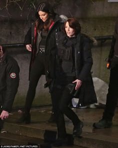On the set: Floriana Lima and Chyler Leigh joined Melissa on the Vancouver set...