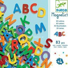 Magnesy drewniane Alfabet 83szt, Djeco | Dadum
