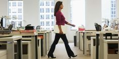 Walking 2 min/hour around the office boosts your health