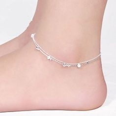New Women Fashion Jewelry 925 Sterling Silver Plated Anklet Ankle Bracelet