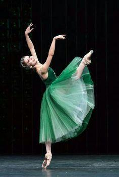 "The Bolshoi's Evgenia Obraztsova. Dancing Emerald's from George Balanchines ""Jewel's"". Photo by"