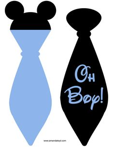 Ties from Baby Mickey Printable Photo Booth Prop Set