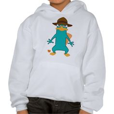 Phineas and Ferb Agent P platypus in hat standing Tee Shirts