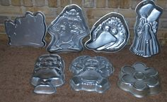 Vintage Lot Wilton Cake Pan7 MoldsWinnie The PoohTazBig by dables