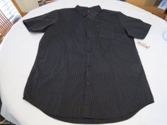 Men's Quiksilver short sleeve NEW button up shirt Line Work KVJ3 XXL surf skate