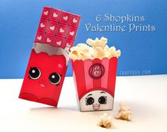 Shopkins Mini Popcorn Box Instant Download By PartyWithMeCreations |  Shopkins Birthday | Pinterest | Shopkins