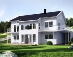 Haugli er en romslig enebolig med sokkel | Norgeshus