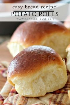 Homemade potato rolls start with left over mashed potatoes but end up as the star of your meal with this easy recipe from Food Network. Mashed Potato Rolls Recipe, Homemade Mashed Potatoes, Leftover Mashed Potatoes, Easy Bread Recipes, Baking Recipes, Unique Potato Recipes, Casserole Recipes, Easter Dinner Recipes, Easter Desserts